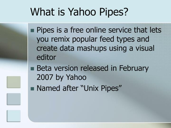 What is yahoo pipes