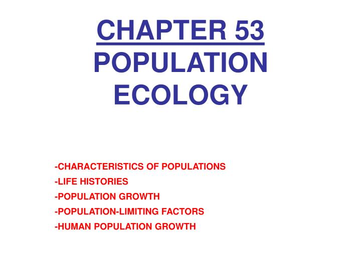 chapter 53 population ecology n.
