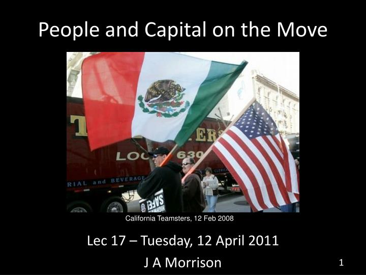 people and capital on the move n.