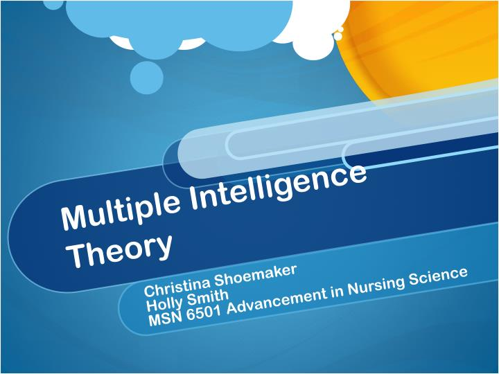 multiple intelligence theory n.