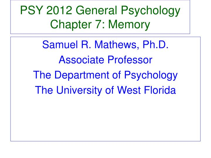 general psychology chapter 1 Title: psy 203: general psychology study guide for chapter 1: introduction to psychology and research methods author: nassau community college last modified by.