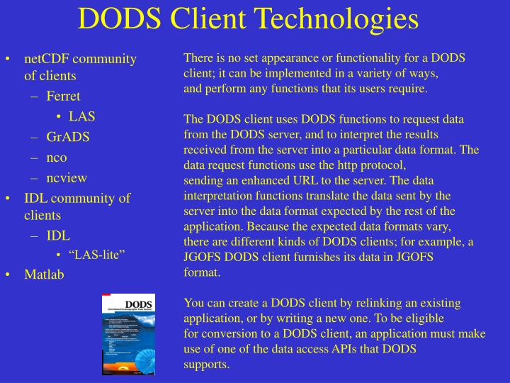 netCDF community of clients