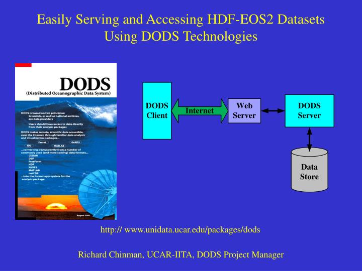 Easily serving and accessing hdf eos2 datasets using dods technologies