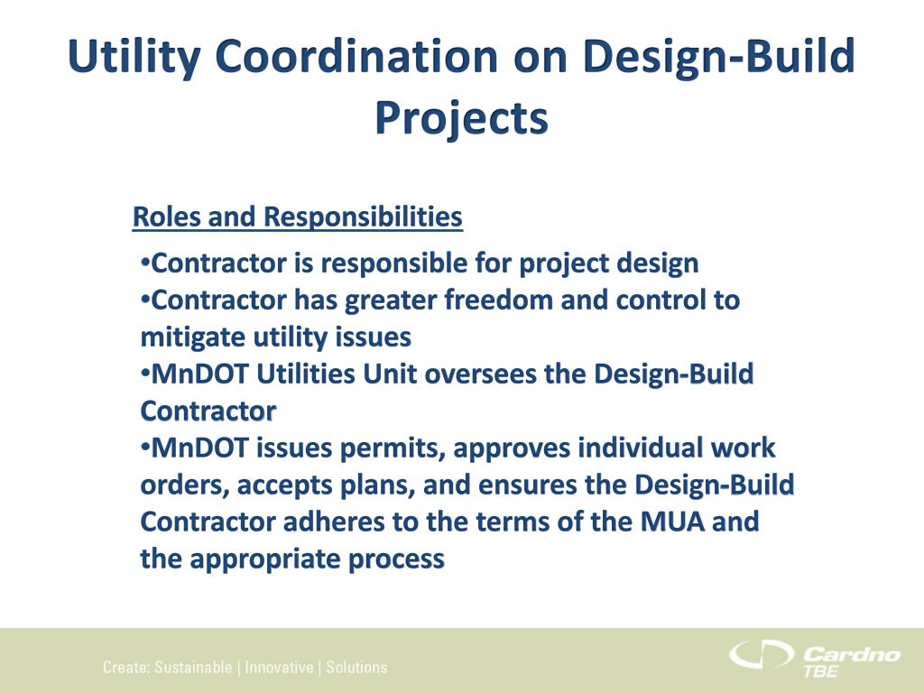 PPT - Utility Coordination Oversight on Design-Build