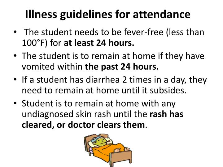 Illness guidelines for attendance