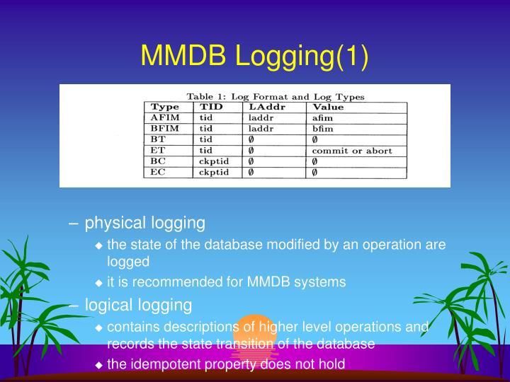 Mmdb logging 1
