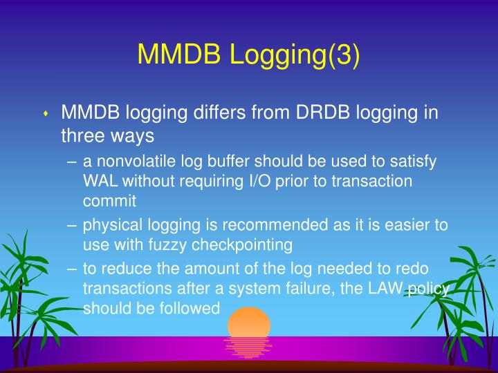MMDB Logging(3)