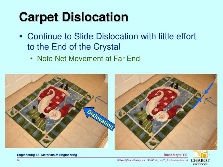 Carpet Dislocation