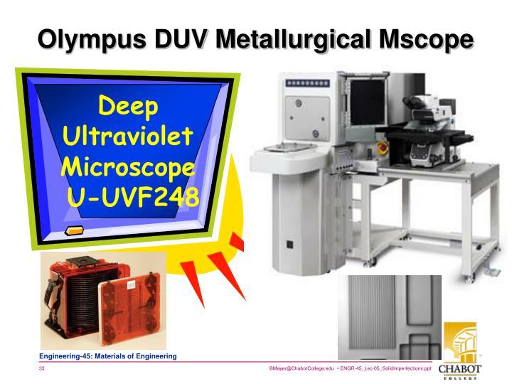 Olympus DUV Metallurgical
