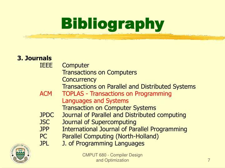 3. Journals