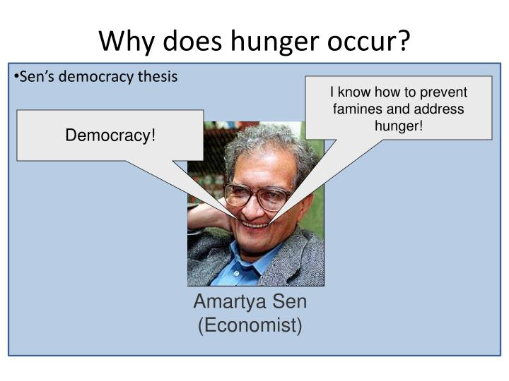 Why does hunger occur?