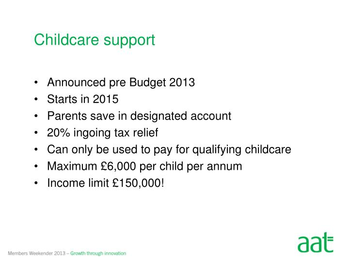 Childcare support