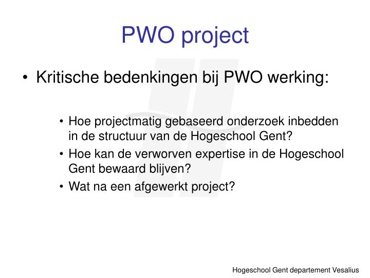 PWO project