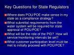 key questions for state regulators