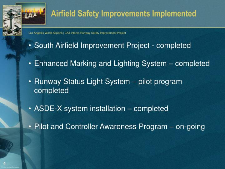 Airfield Safety Improvements Implemented