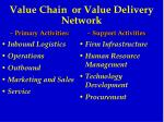 value chain or value delivery network