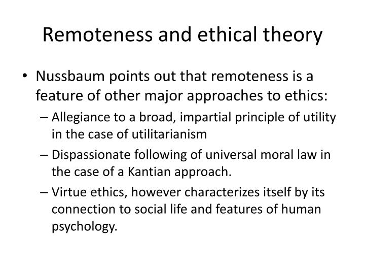 Remoteness and ethical theory