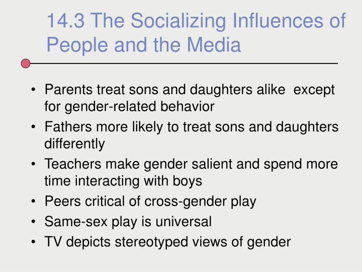 Parents treat sons and daughters alike  except for gender-related behavior