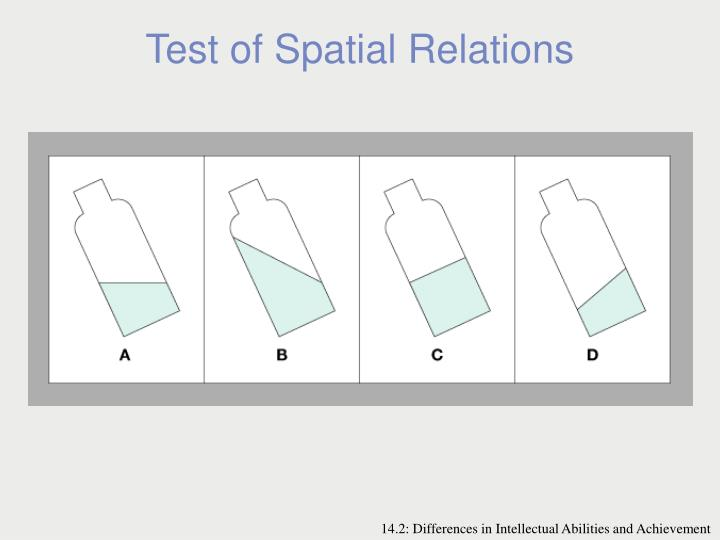 Test of Spatial Relations
