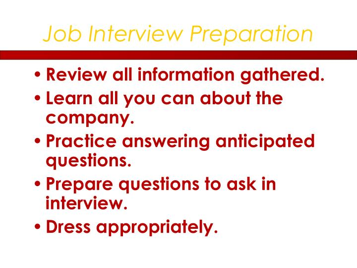 Job Interview Preparation