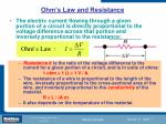 ohm s law and resistance