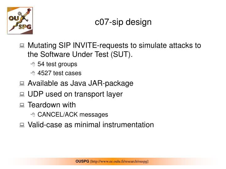 c07-sip design