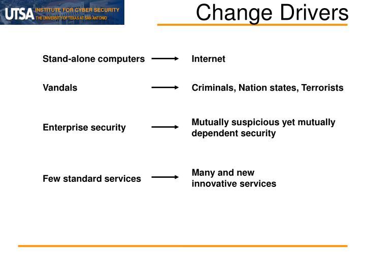 Change drivers