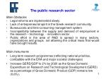 the public research sector