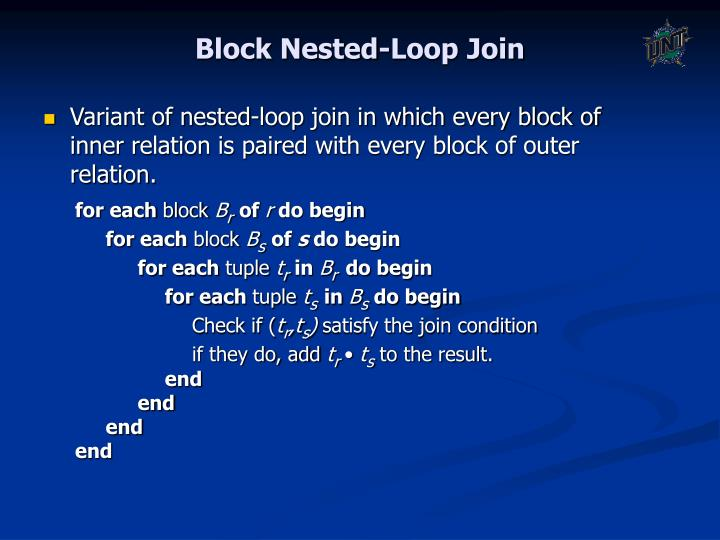 Block Nested-Loop Join