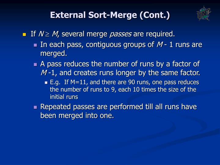 External Sort-Merge (Cont.)