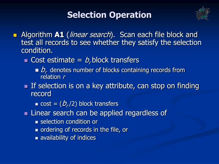 Selection Operation