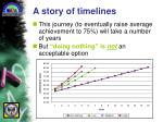 a story of timelines
