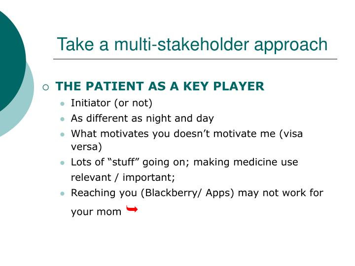 Take a multi-stakeholder approach