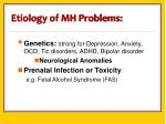 etiology of mh problems
