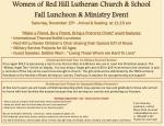 women of red hill lutheran church school fall luncheon ministry event