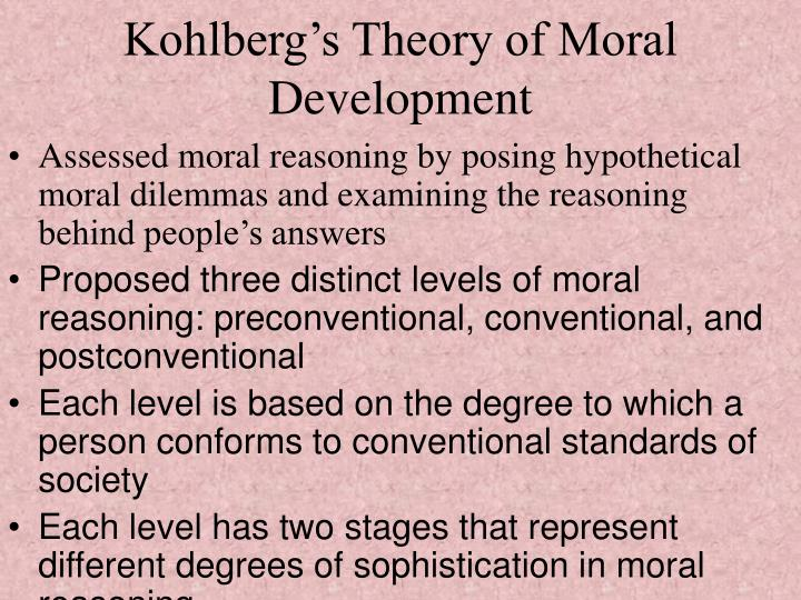 kohlbergs moral judgment model L kohlberg's typology posits 6 hierarchical stages forming a piagetian developmental sequence the 1st 4 moral judgments do define a piagetian stage sequence.