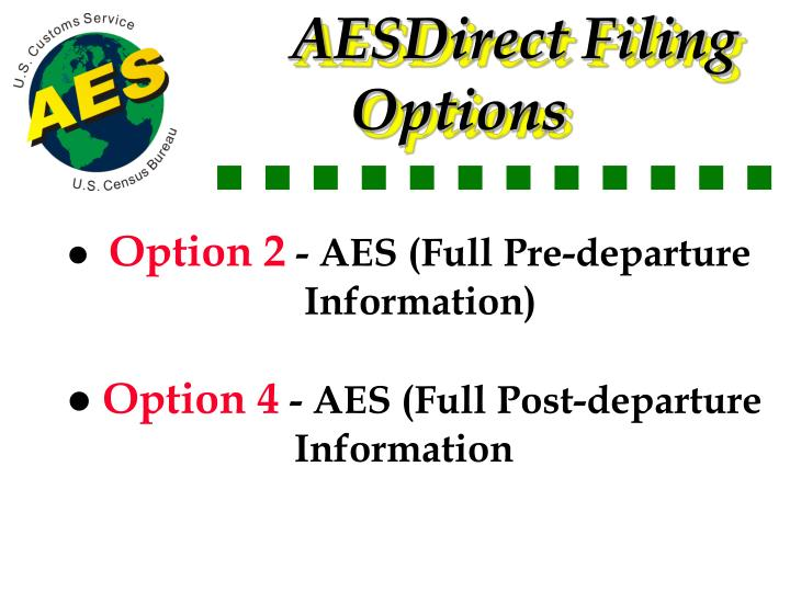AESDirect Filing