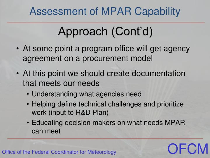 Assessment of MPAR Capability