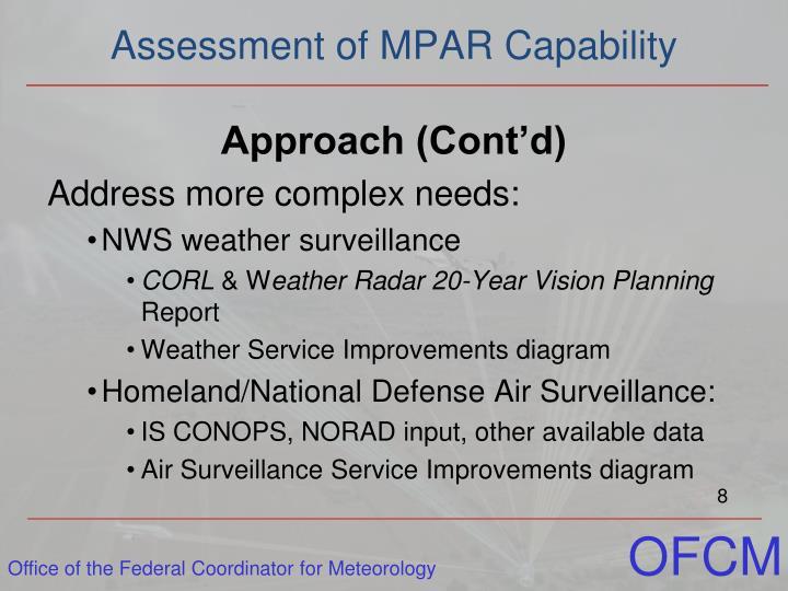 Assessment of MPAR