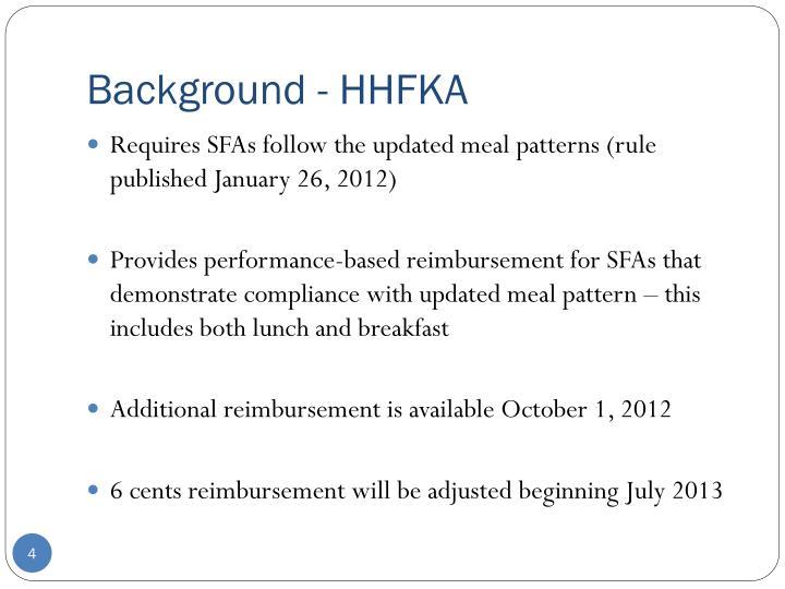Background - HHFKA