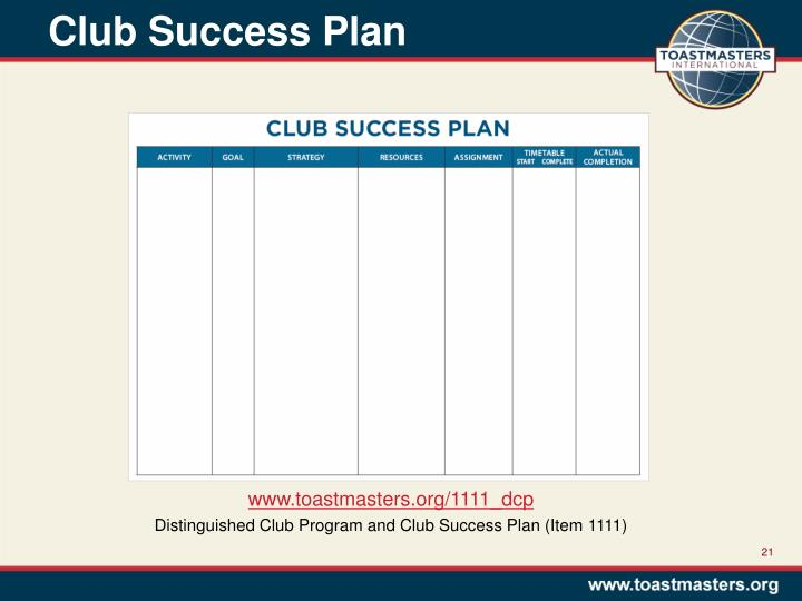 Club Success Plan