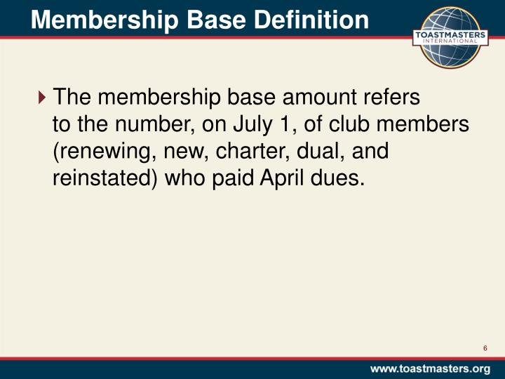 Membership Base Definition