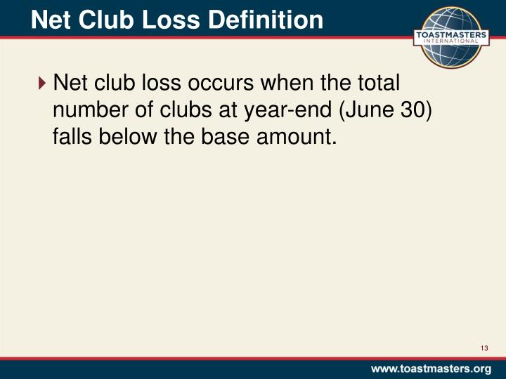 Net Club Loss Definition