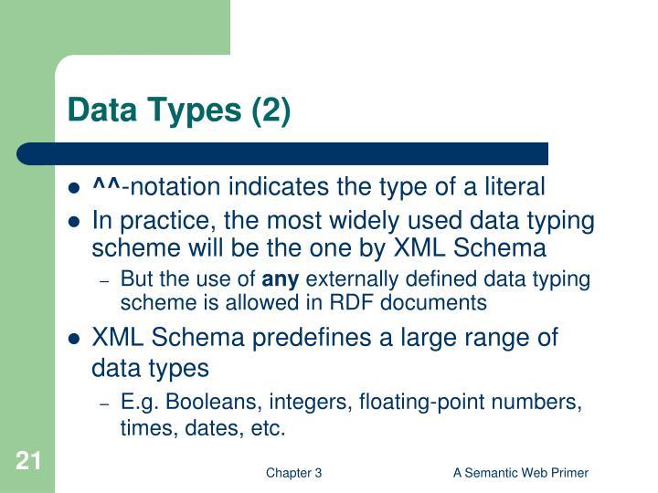 Data Types (2)