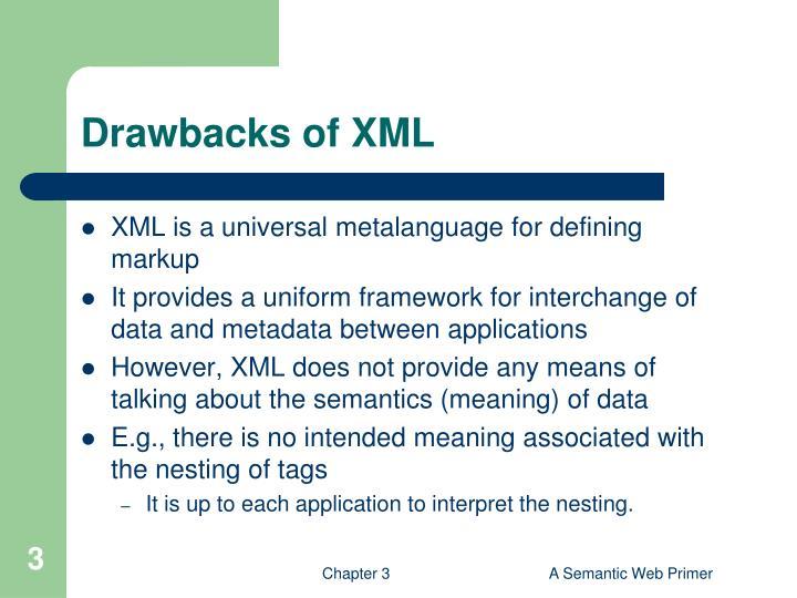 Drawbacks of xml