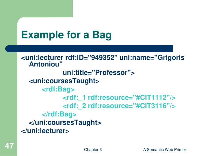 Example for a Bag