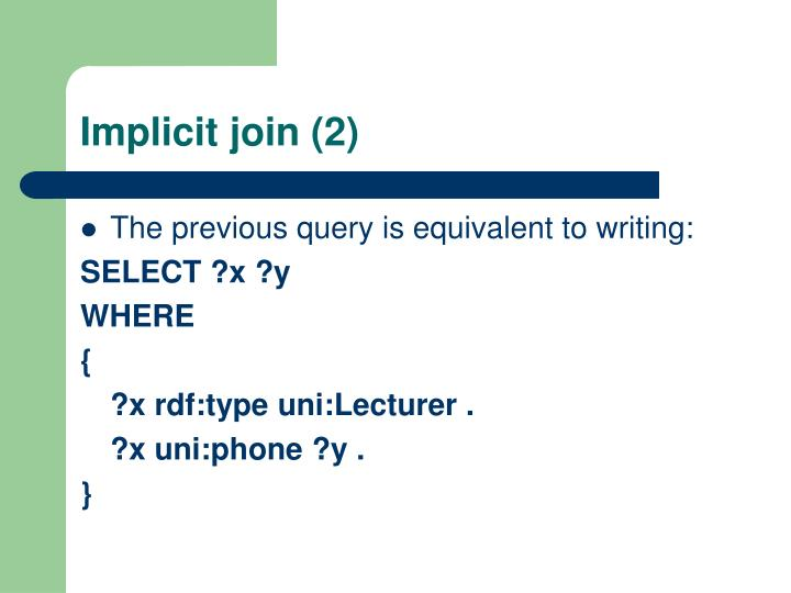 Implicit join (2)