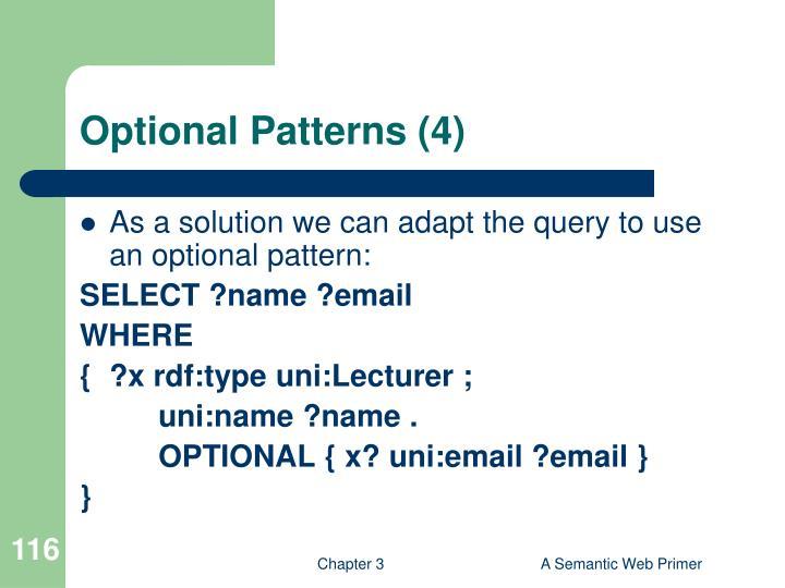Optional Patterns (4)