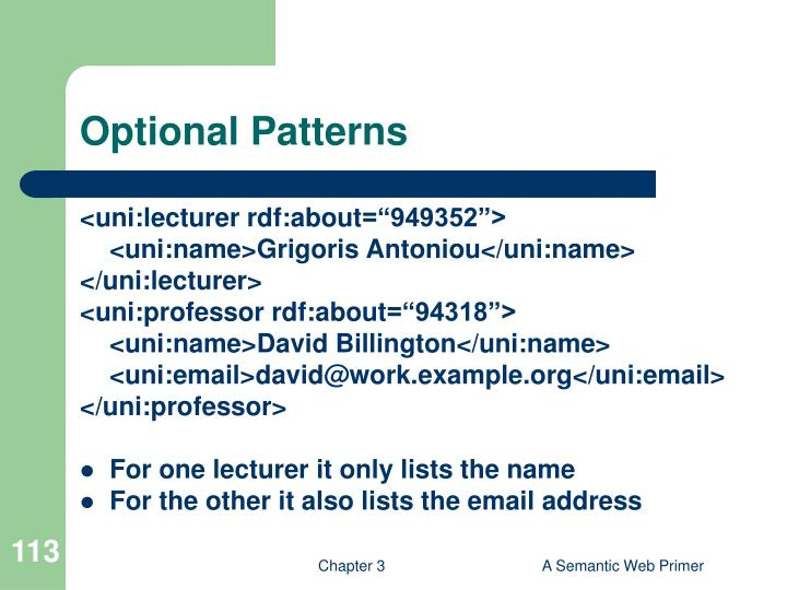 Optional Patterns