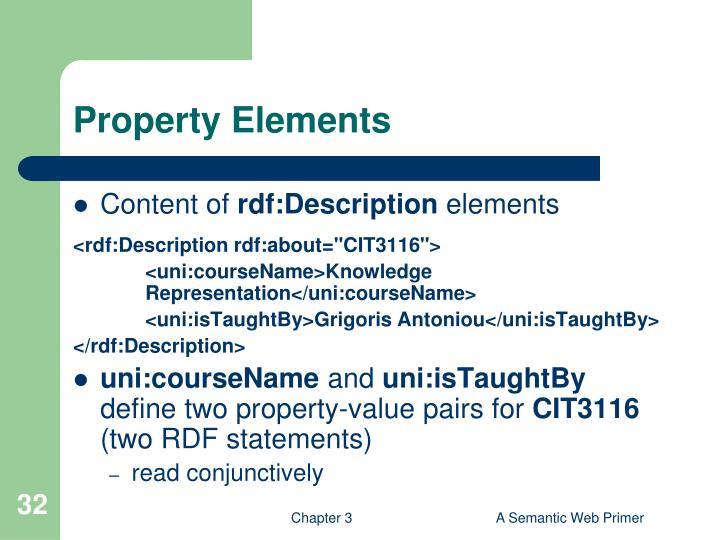 Property Elements